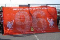 Баннер с именами погибших, 20-летняя годовщина трагедии на стадионе «Хиллсборо», 2009-й год