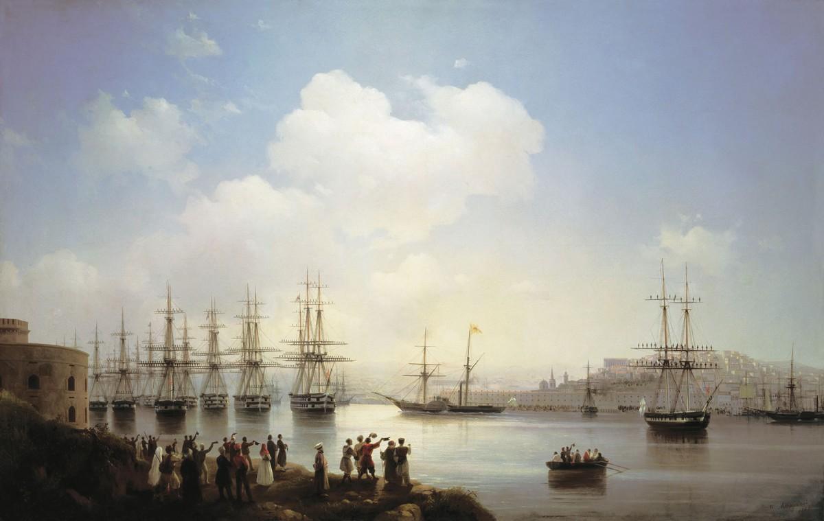 Русская эскадра на Севастопольском рейде